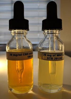 CBD oil and peppermint oil nanoemulsions