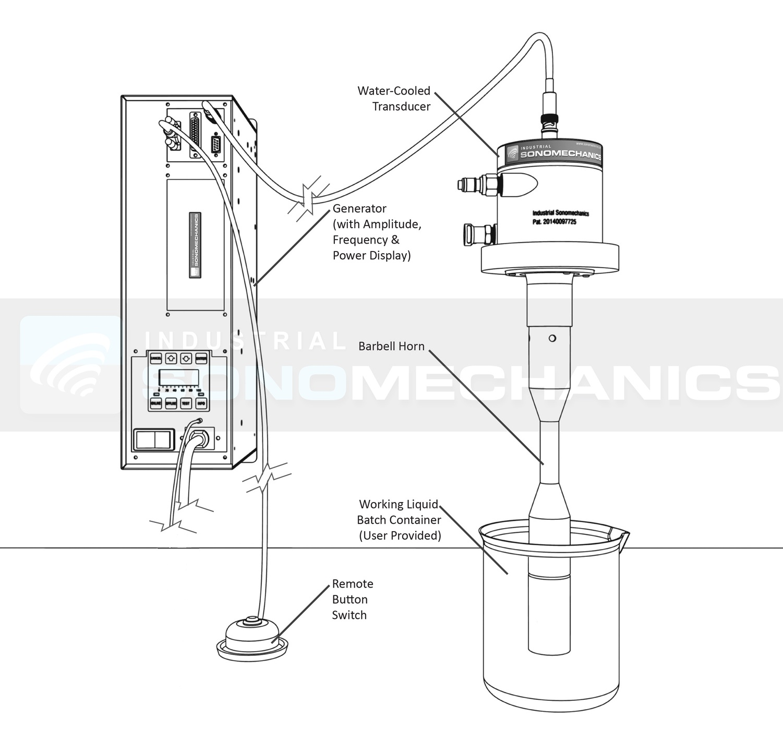 Batch Mode Schematic BSP-1200 Ultrasonic Processor
