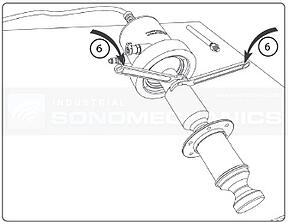 ISP-3000 horn transducer assembly tighten using spanner wrenches