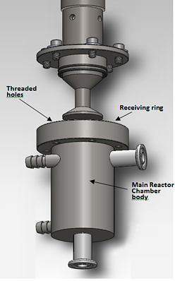bsp-1200 how to insert horn into the reactor chamber