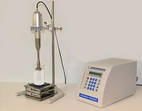 LSP-500 Laboratory-Scale Ultrasonic Liquid Processor used for candle experiment