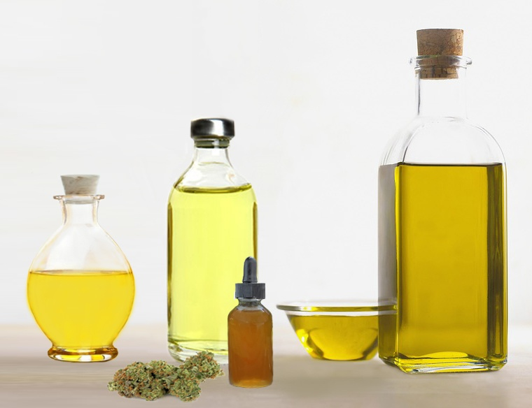 variety of carrier oils for THC and CBD formulations
