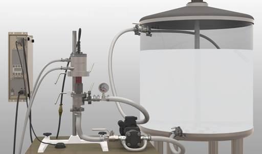 Producing Nanoemulsions with ISP-3000 Ultrasonic Processor Flow-through Mode