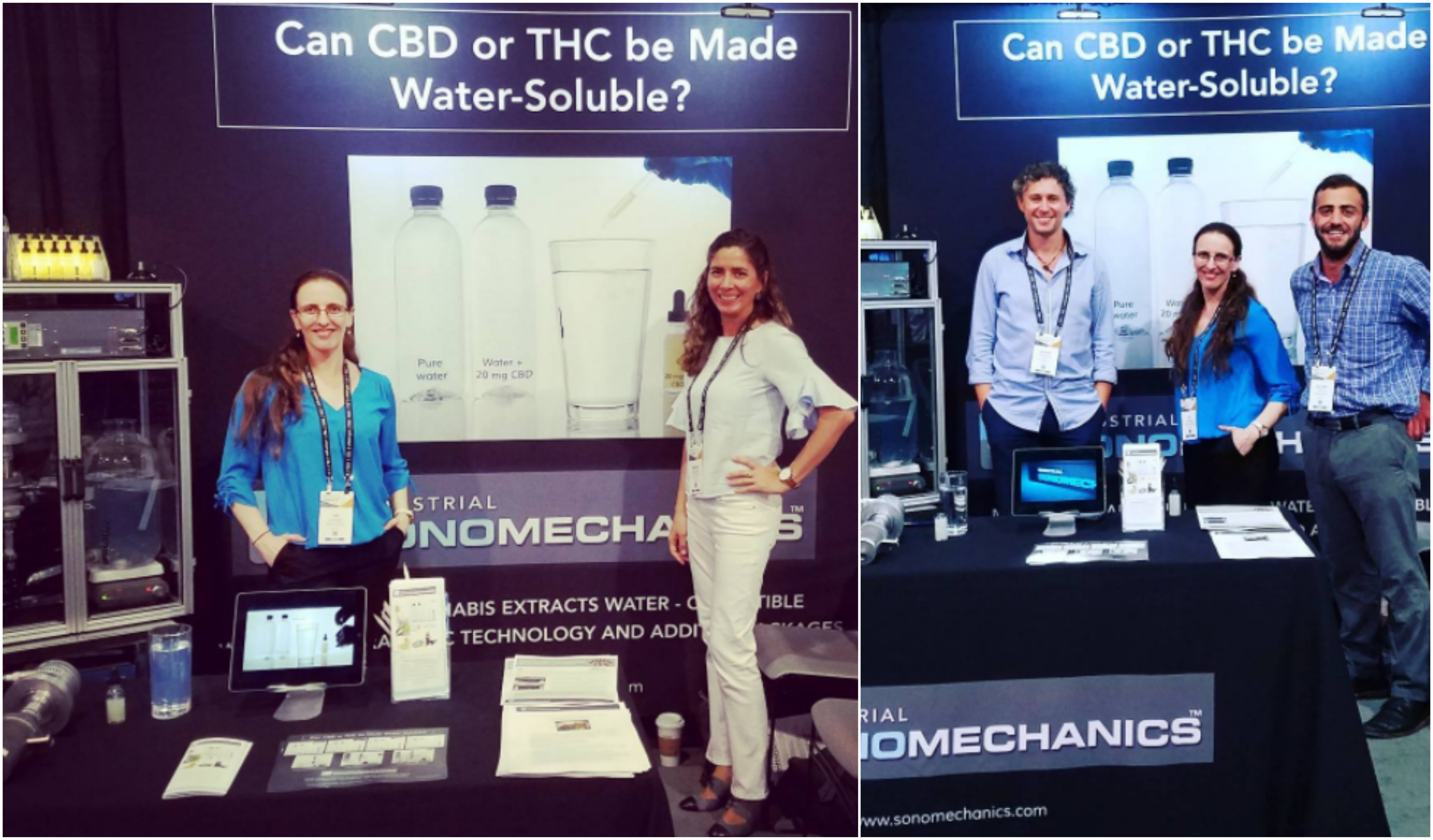 Industrial Sonomechanics' booth at the 2017 MJBiz Conference and Expo - Iva, Marina, Alexey and Shlomo