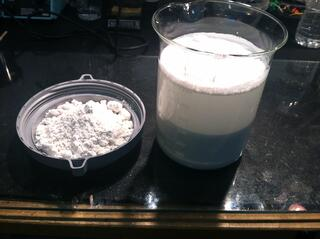 calcium carbonate CaCO3 sample preparation