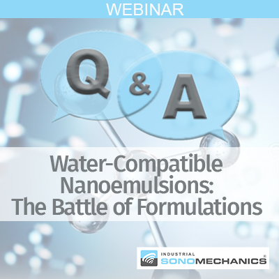 water-compatible nanoemulsions, nanoemulsion, emulsion, nanoformulation